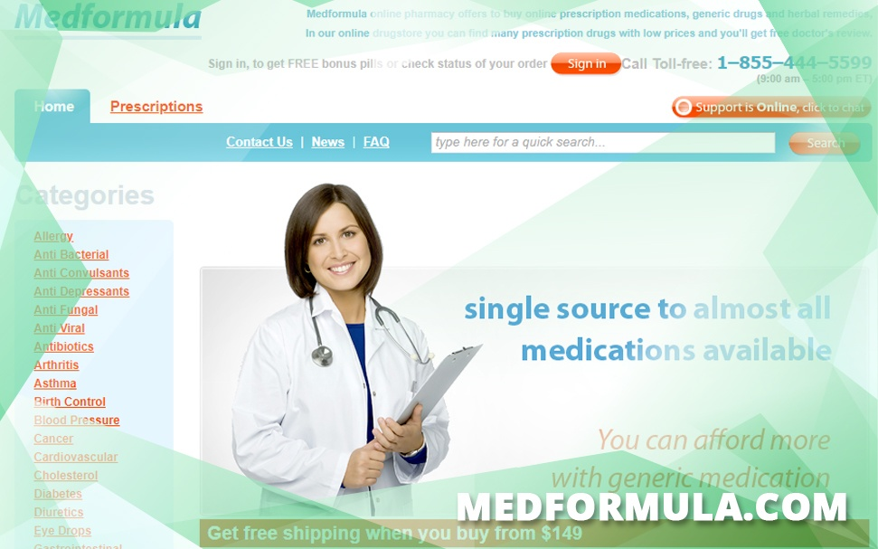 Medformula.com Review - This Online Pharmacy Is yet to Gain Trust of Customers