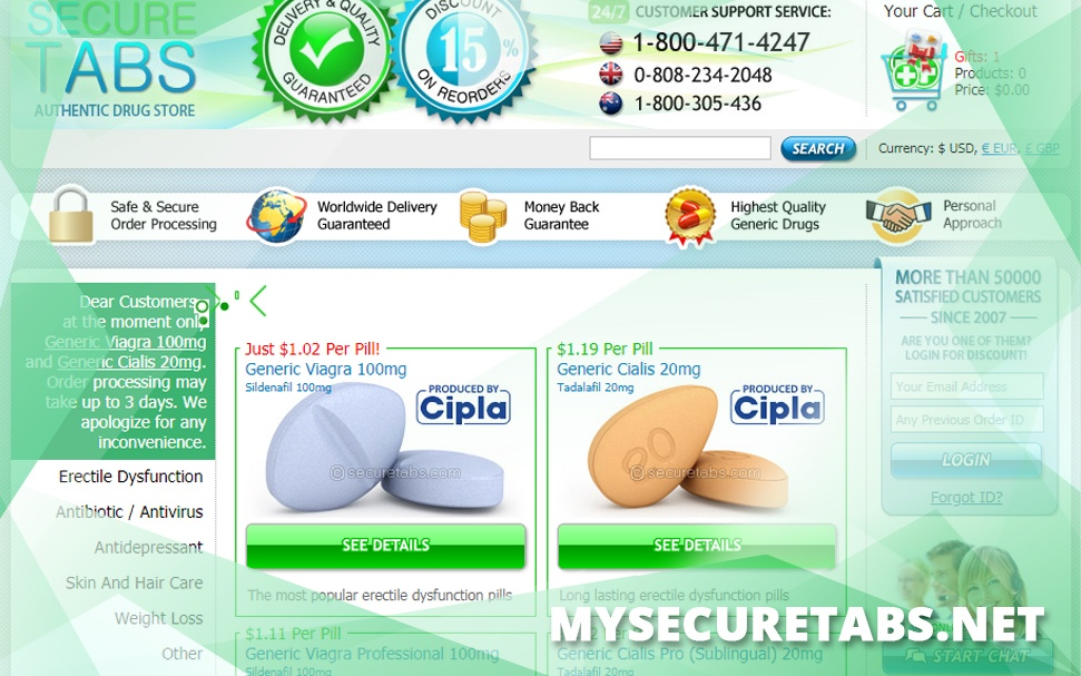 Mysecuretabs.net Review – A Simple Pharmacy that Sold Affordable Products