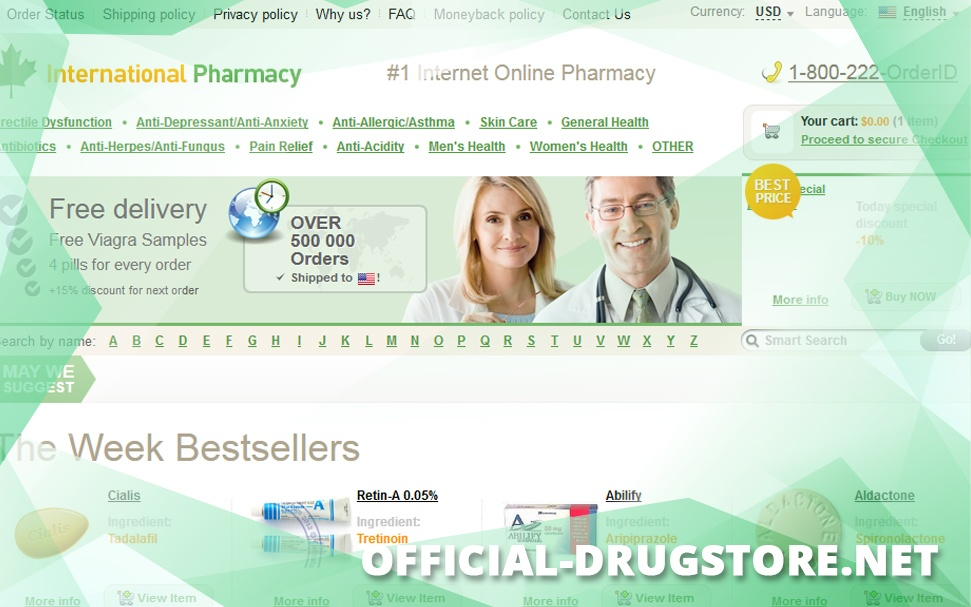Official-drugstore.net Review - Online Drugstore with no Feedback from Customers