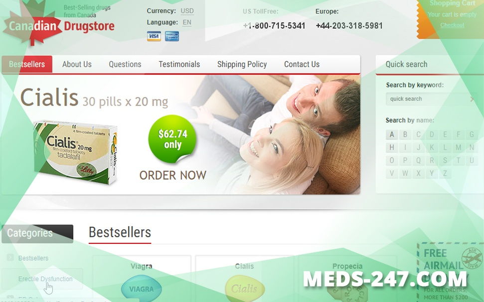 Meds-247.Com Review – A Closed Canadian Medication Shop with a High Likelihood of Being Fake