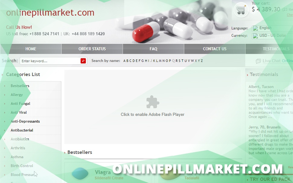 Onlinepillmarket.com Review – A Closed Fairly Affordable Pharmacy with a Wide Catalog