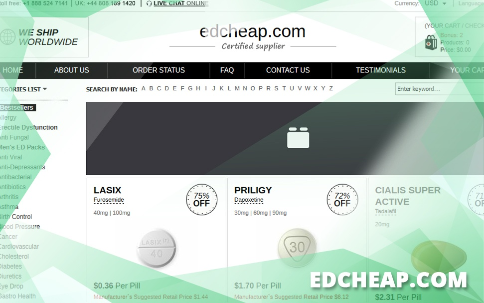 Edcheap.com Review - Online Pharmacy with Incredible Prices
