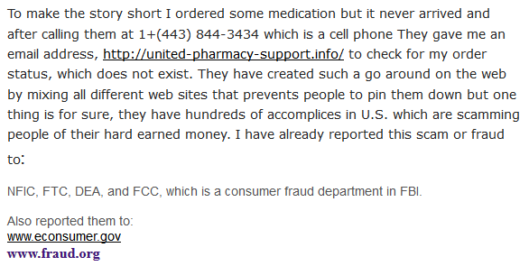 Canadian Healthcare Shop Complaint